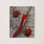 Pimienta de chile rojo rompecabeza