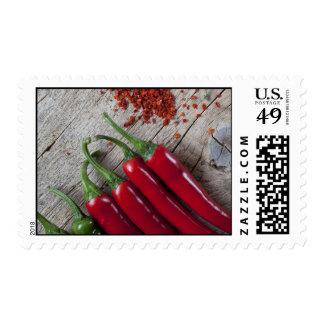 Pimienta de chile rojo sello