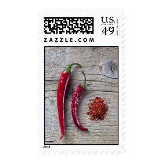 Pimienta de chile rojo sellos