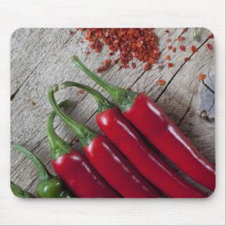 Pimienta de chile rojo tapetes de ratones