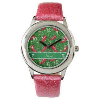 Pimienta de chile verde conocida de encargo del relojes