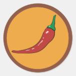 pimienta de chiles. especia etiqueta redonda