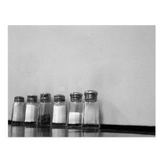 pimienta de la sal de la sal tarjeta postal
