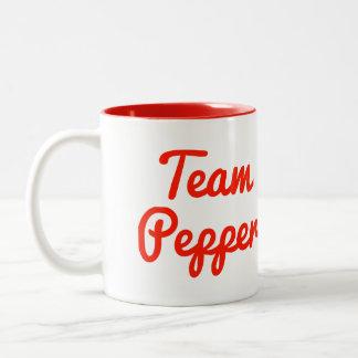 Pimienta del equipo taza de café