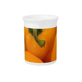 pimienta fresca amarilla jarrón