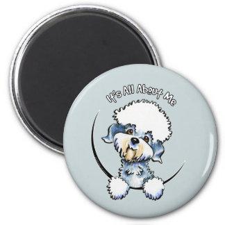 Pimienta IAAM de Dandie Dinmont Terrier Imán Redondo 5 Cm