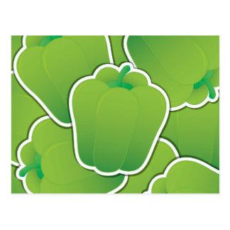 Pimienta verde enrrollada tarjeta postal
