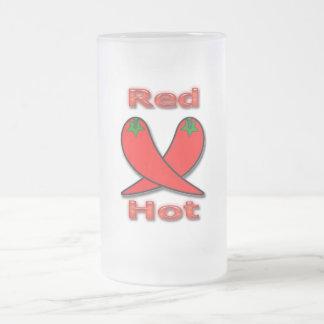 Pimientas candentes rojas tazas