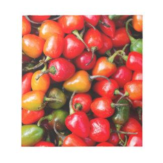 Pimientas de cereza regordetas bloc de notas