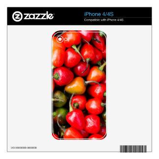 Pimientas de cereza regordetas calcomanías para el iPhone 4S