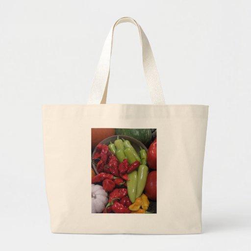 Pimientas de chile bolsa tela grande