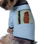 Pimientas de chile candentes camisas de mascota