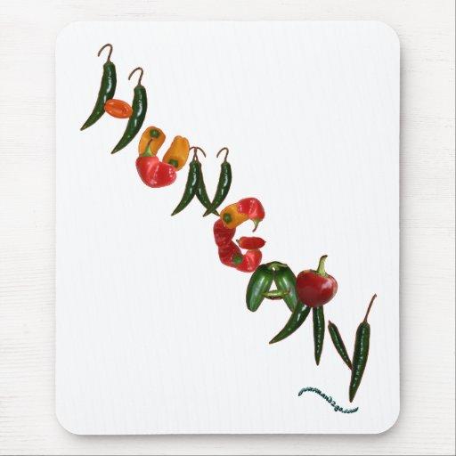 Pimientas de chile de Hungría Alfombrillas De Ratón