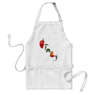 Pimientas de chile de Italia Delantal