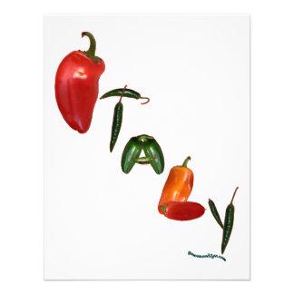 Pimientas de chile de Italia Invitación
