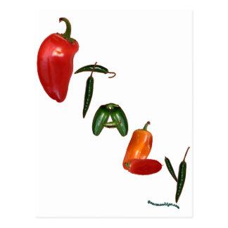 Pimientas de chile de Italia Postales