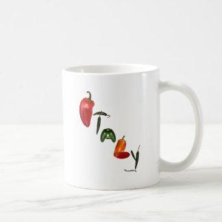 Pimientas de chile de Italia Tazas De Café