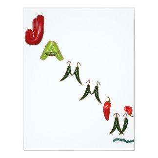 Pimientas de chile de Jammin Invitación 10,8 X 13,9 Cm