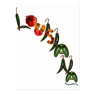 Pimientas de chile de Luisiana Postales