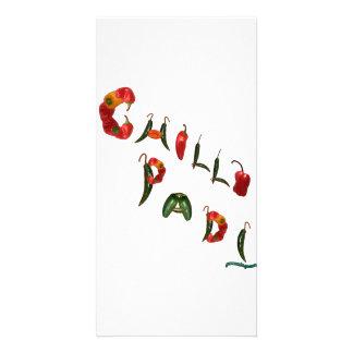 Pimientas de chile de Padi de los chiles Tarjetas Fotográficas