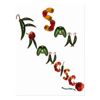 Pimientas de chile de San Francisco Tarjetas Postales