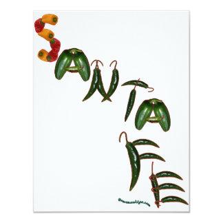 """Pimientas de chile de Santa Fe Invitación 4.25"""" X 5.5"""""""