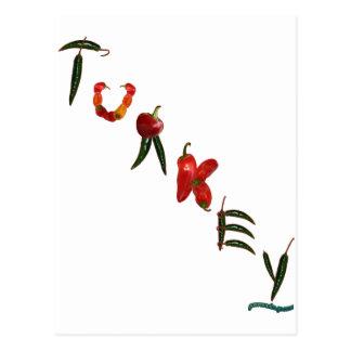 Pimientas de chile de Turquía Tarjetas Postales