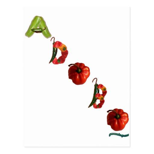 Pimientas de chile del Adobo Postal