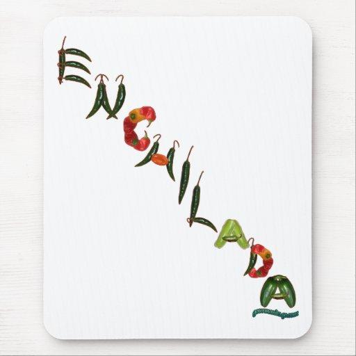 Pimientas de chile del Enchilada Alfombrillas De Raton
