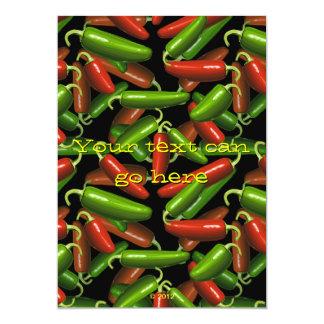 Pimientas de chile invitación 12,7 x 17,8 cm
