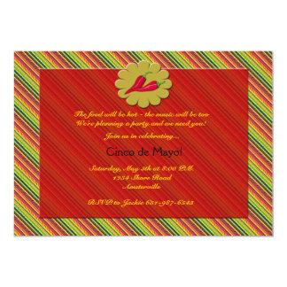 Pimientas de chile - invitación de Cinco de Mayo Invitación 12,7 X 17,8 Cm