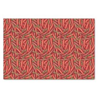 Pimientas de chile papel de seda