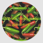 Pimientas de chile pegatina redonda