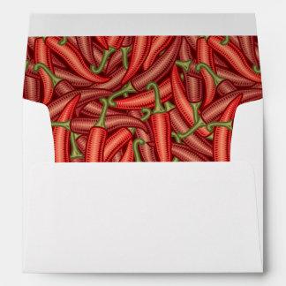 Pimientas de chile sobre