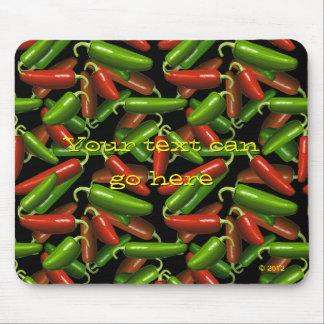 Pimientas de chile tapetes de raton