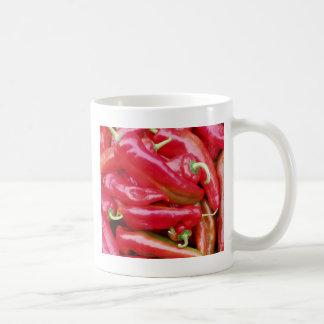 Pimientas de chile taza