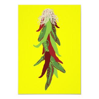 pimientas de chile verdes invitación 8,9 x 12,7 cm