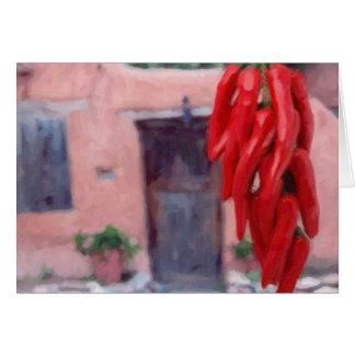 Pimientas de chiles Ristra Tarjeta Pequeña