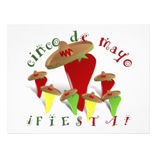 """Pimientas del baile de Cinco De Mayo Folleto 8.5"""" X 11"""""""