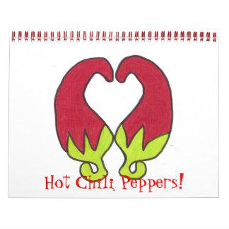 ¡Pimientas del chile picante! Calendario