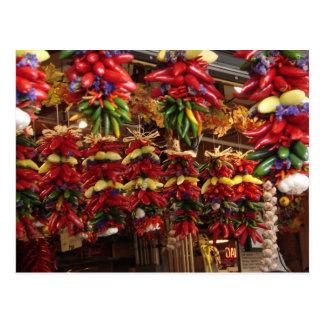 Pimientas en el mercado de lugar de Pike Tarjeta Postal