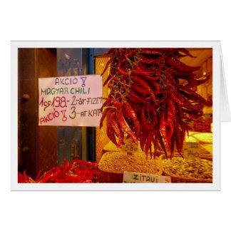 Pimientas en el mercado magnífico Pasillo Tarjeta De Felicitación