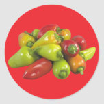 Pimientas Etiquetas Redondas