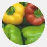 Pimientas frescas II (13 x 13) Etiqueta