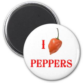 Pimientas I (del corazón) Imán Redondo 5 Cm