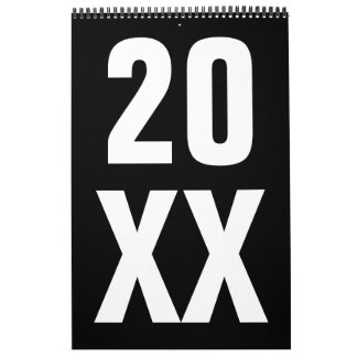 Pimientas modernas 2016 de Leslie del ~ del diseño Calendario De Pared