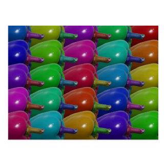 Pimientas multicoloras postal