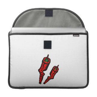 Pimientas rojas arboladas estilizadas funda para macbooks