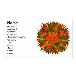Pimientas soleadas tarjetas de visita