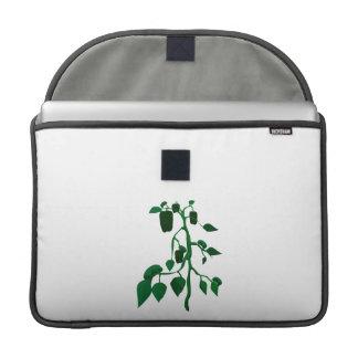 Pimientas verdes en gráfico de la planta verde funda macbook pro